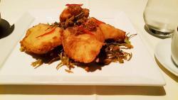 Pla Kao Sam Ros which is a deep-fried boneless whole grouper