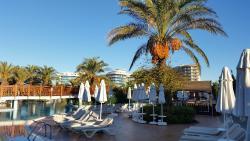 Blick in die Hotelanlage