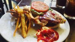 BBQ Chicken Sandwich with Fries