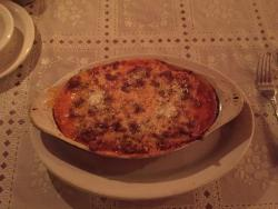 Home made meat lasagna special