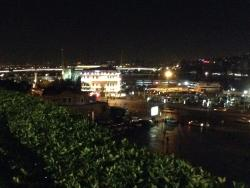 Early evening in December from third floor balcony at Hamdi