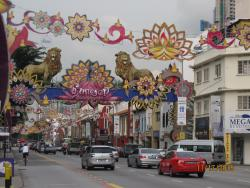 VIEW OF DEEPAVALI DECORATIONS IN LITTLE INDIA