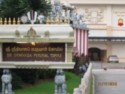 HINDU TEMPLE IN LITTLE INDIA FOR HINDU GOD SRINIVASA PERUMAL