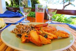 Hearty Costa Rican breakfast at Tulemar