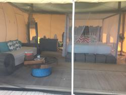 inside tent 303