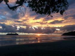 Sunset at Manuel Antonio.