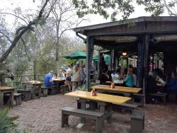 Back patio at the Gristmill