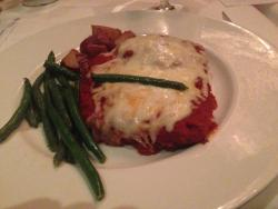 Eggplant Parmesan: layered like lasagna rather have had single layer