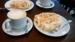 Torta fria com café