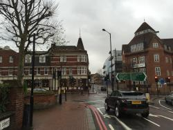 View of Brewers Inn from the local bus stop