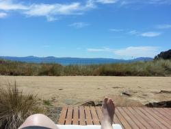 View from sun bed