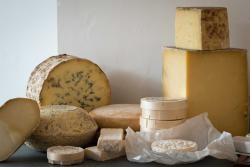 Some of our cheese selection, matured by Neal's Yard Dairy