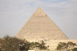 View from my room of Khafre's pyramid and sphinx