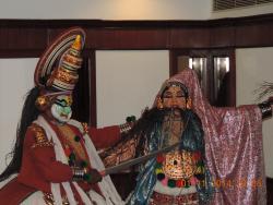 Traditional Kathakali dance performance at Gokulam Park Hotel