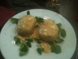 Patatas rellenas de foie