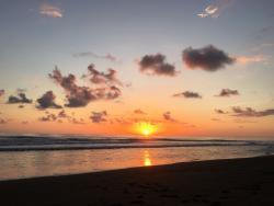 Sunset at Playa Matapalo (2 min walk from Jardin de los Monos)