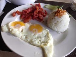 Tocino and eggs