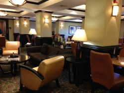 Attractive seating in breakfast area at HI Express, Durant OK