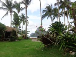 Gardens with view to Cadlao Island