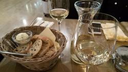 Ristorante Italiano Buschetto - coperto and Pinot Grigio