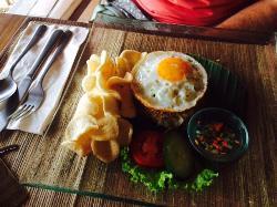 Complimentary breakfast example - nasi goreng