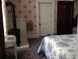 Door to adjoining (noisy) room