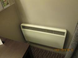 Inefficiently located radiator