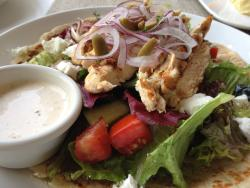Lafa chicken salad