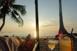 Cocktails au bar de plage
