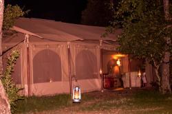 The Main Tent at night