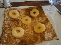 Crepe a l'ananas