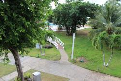 Looking toward the pool