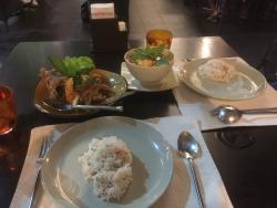 Hauptspeise, Fisch & Curry (mit Reis)