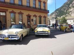 6th Street provides a setting for vintage car shows.