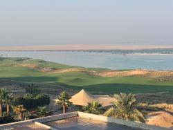 View over the gulf course and the sea