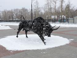 Sculpture Iron Bull