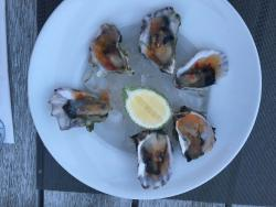 Kokoda (traditional Fiji food) as a starter, very good Oysters. Main: Tuna and Catch of the day