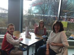 Wonderful lunch with My mum and nephew