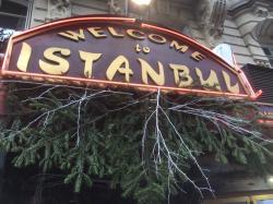 Новогоднее украшение входа в  ресторанчик!
