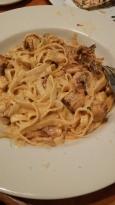 Pasta alla carbonara with chicken. Fabulous!