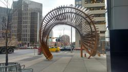 Weaving Fence and Horn sculpture