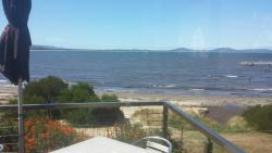 Excellent burgers and wonderful sea views