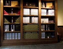 An extensive wine selection
