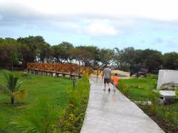 Far right beach with new boardwalk