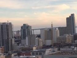 15th floor view of San Diego and Coronado Bridge