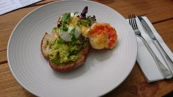 Lobster with poached egg and avocado