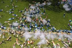 The 69th PA holds on to their Pennsylvania ground at the Angle during Pickett's Charge.