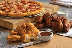 Iroquois pizza and wings