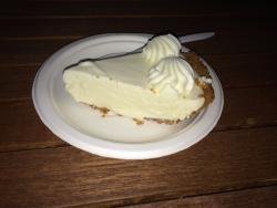 Key Lime Pie...served on styrofoam.