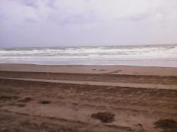 Un día nublado pero increíble.La playa impecable.